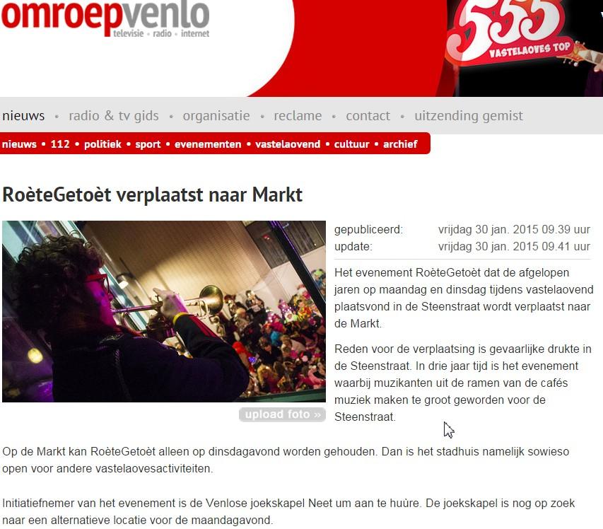 Roètegetoèt 2015 - OmroepVenlo